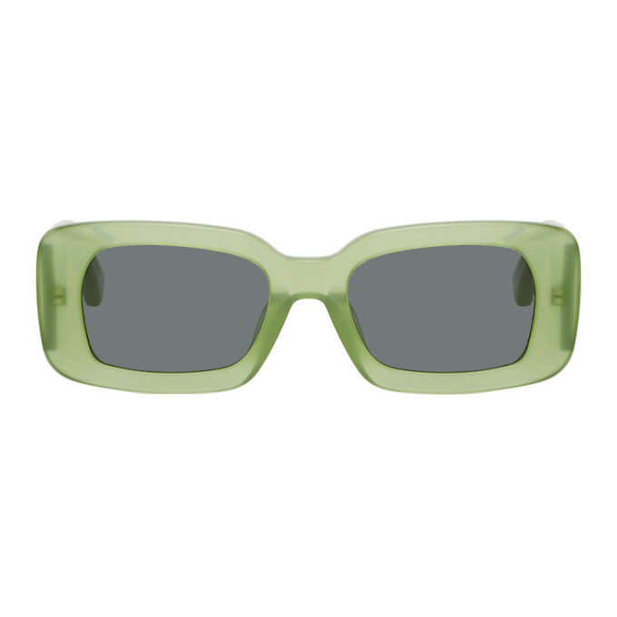 Photo: Dries Van Noten Green Linda Farrow Edition 137 C4 Sunglasses