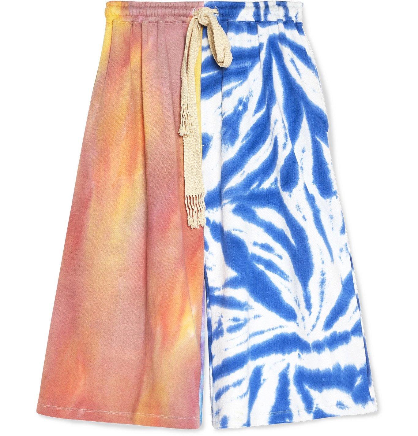 Photo: Loewe - Paula's Ibiza Tie-Dyed Cotton Drawstring Shorts - Blue