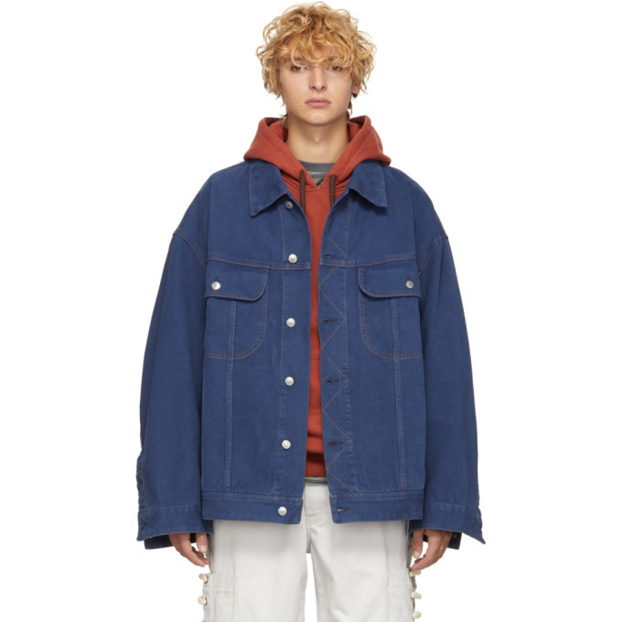 Photo: Acne Studios Blue Bla Konst Denim Oversized Jacket