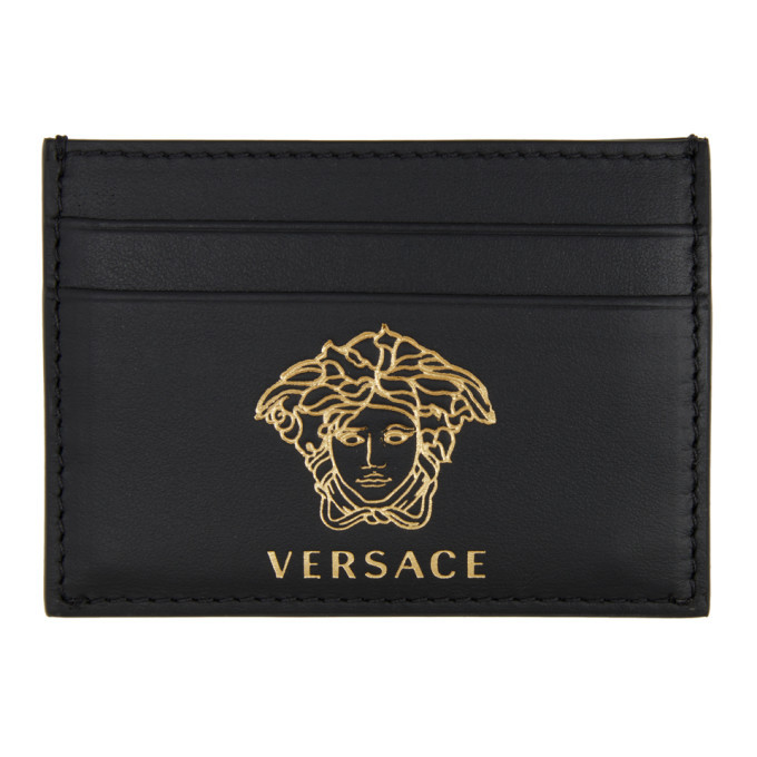 Photo: Versace Black and Gold Medusa Card Holder