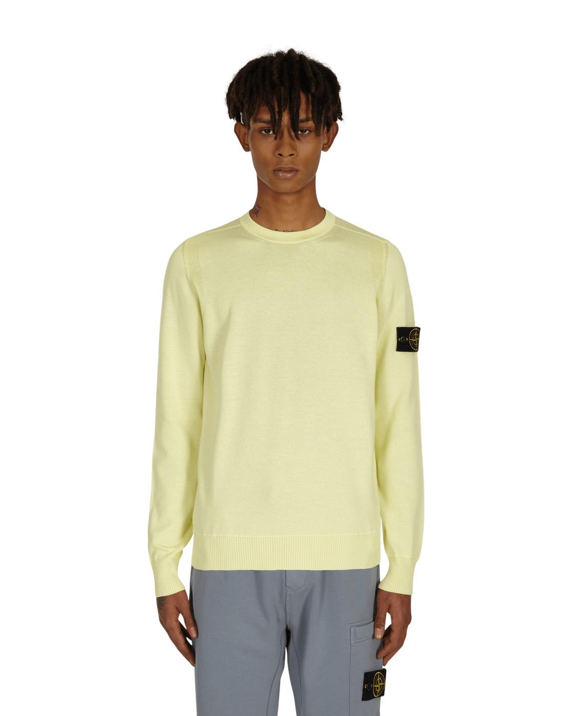 Stone Island Basic Crewneck Sweater Lemon
