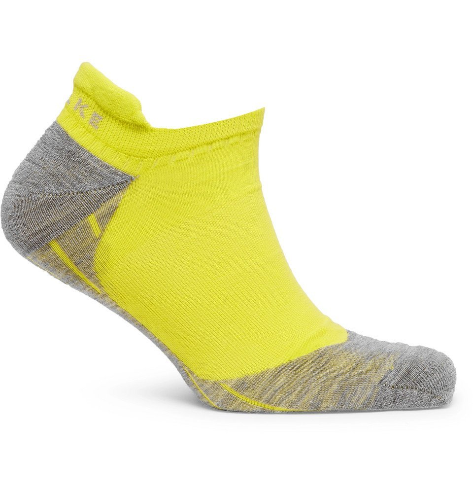 Photo: FALKE Ergonomic Sport System - RU4 Stretch-Knit No-Show Socks - Yellow