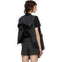 Sacai Black Wool Summer Tweed Vest