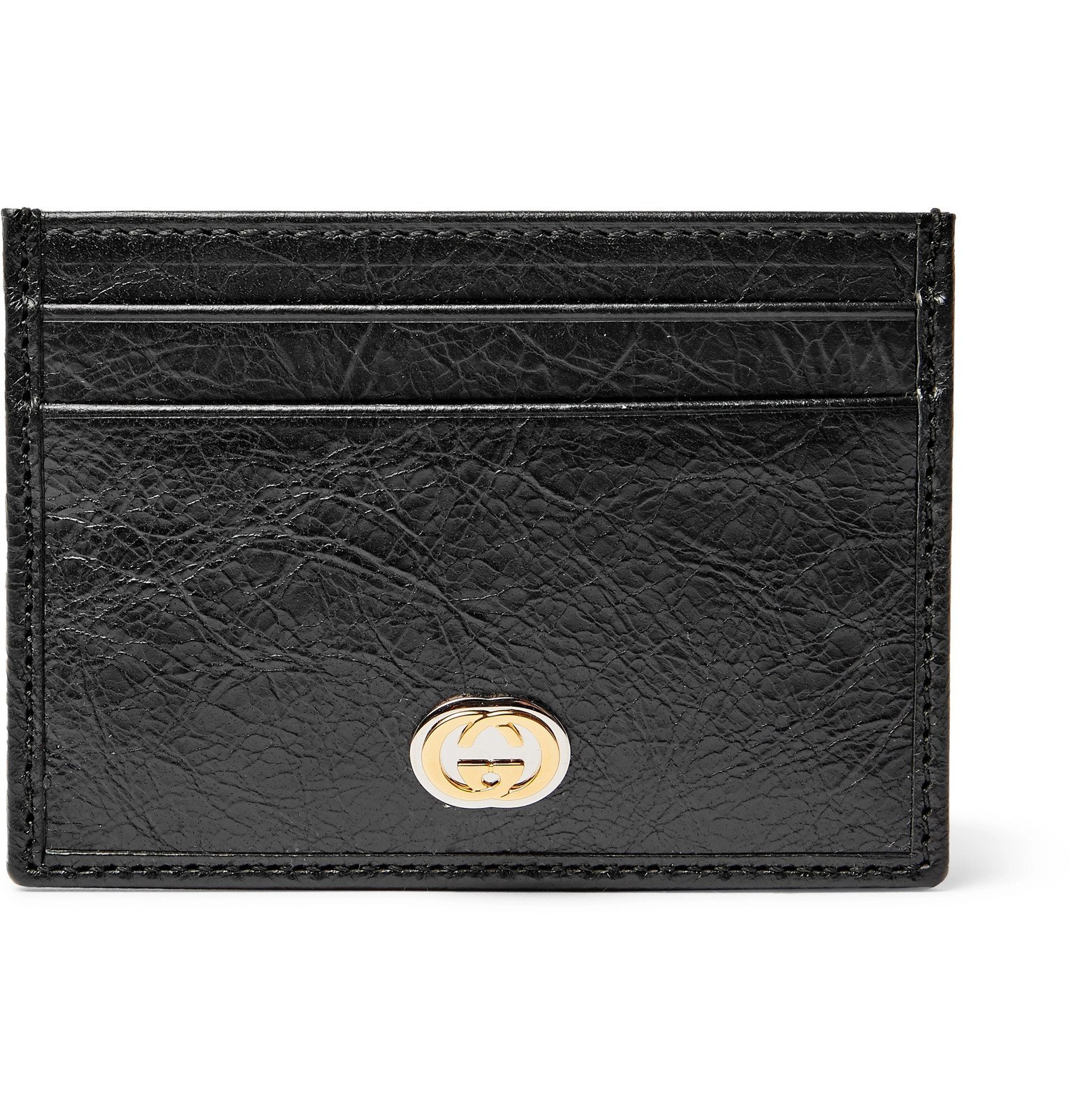 Photo: Gucci - Creased-Leather Cardholder - Black