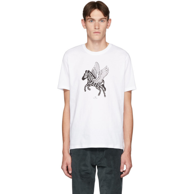 Photo: PS by Paul Smith White Pegasus T-Shirt