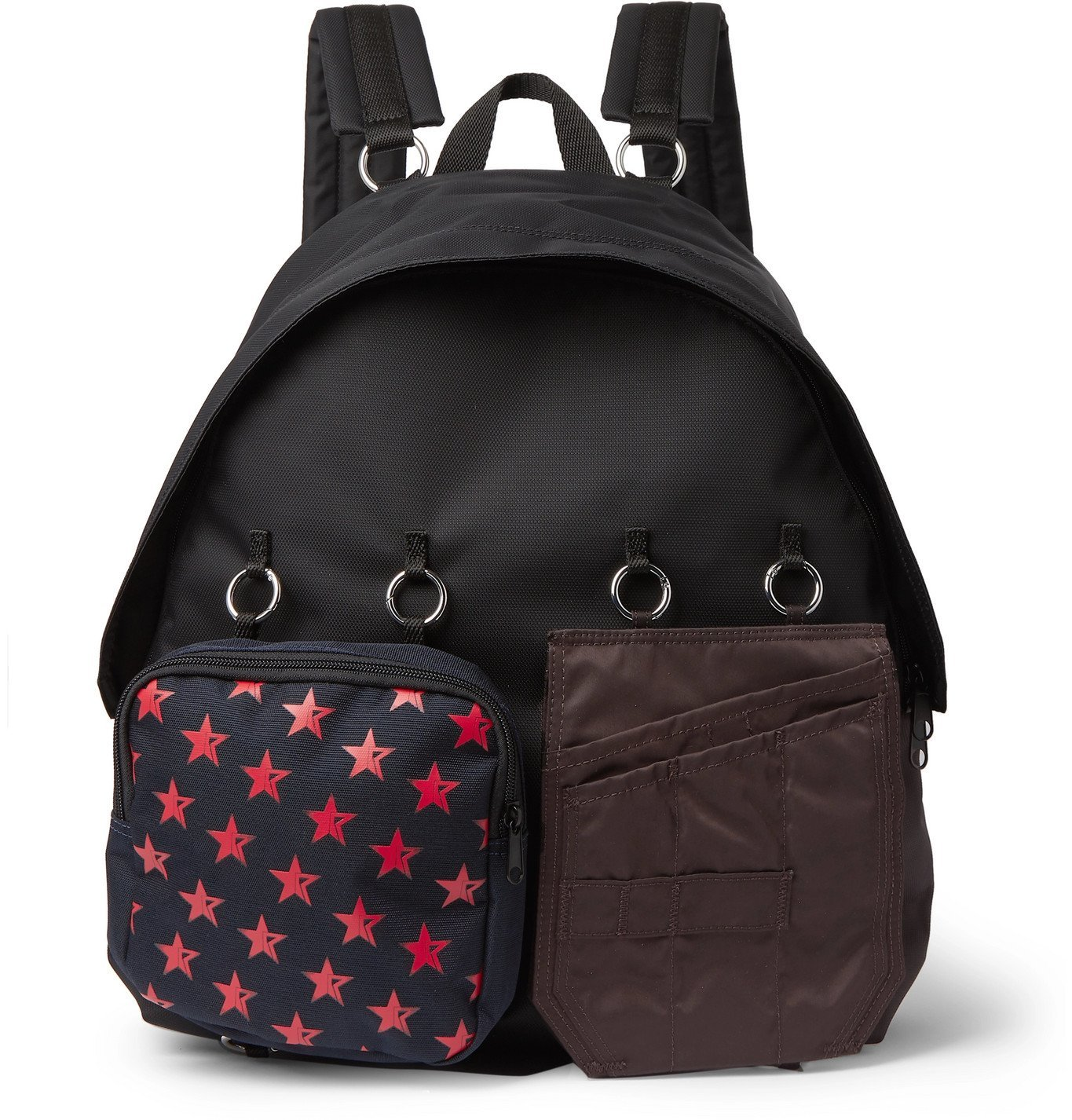 Photo: Raf Simons - Eastpak Padded Doubl'r Printed Embellished Canvas and Shell Backpack - Black