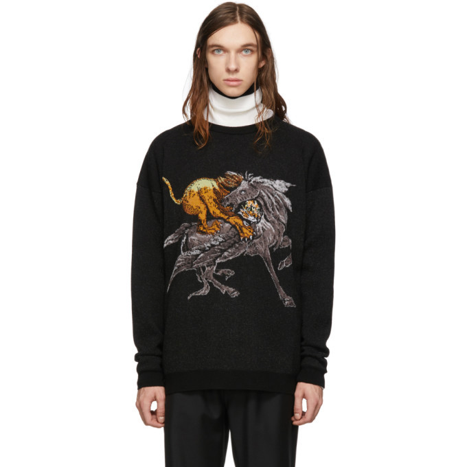 Photo: Givenchy Black Lion and Pegasus Sweater