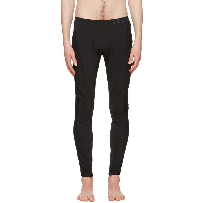 Photo: Versace Underwear Black Panelled Leggings