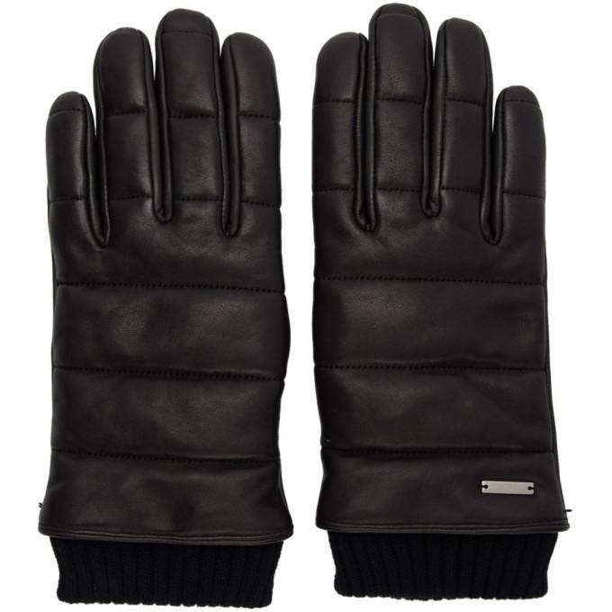 Photo: Hugo Black Leather 3D Stitching Gloves