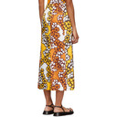 3.1 Phillip Lim Orange Floral Multi Slit Skirt