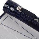 Smythson - Mara Croc-Effect Leather and Suede Travel Backgammon Set - Navy