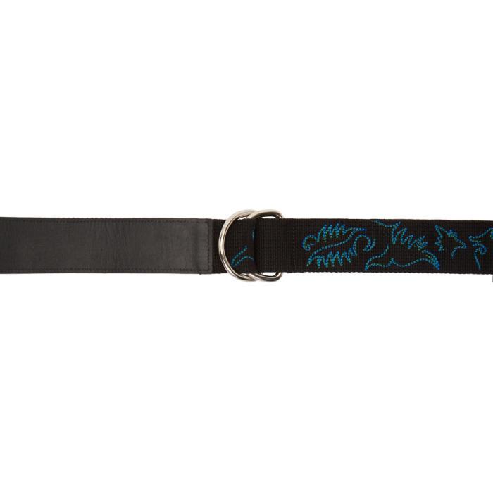 Sacai Black Embroidered Belt