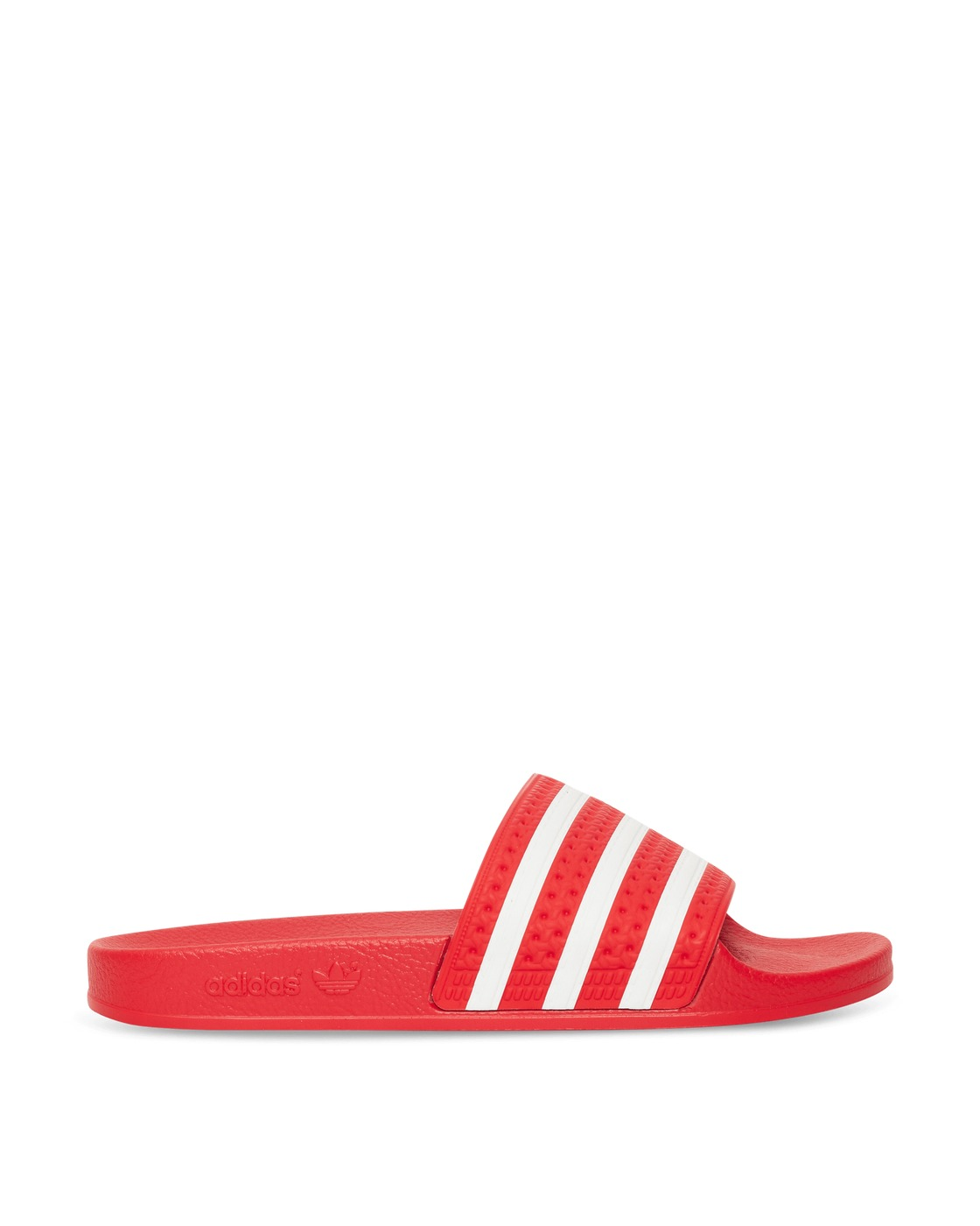 Photo: Adidas Originals Adilette Slides Lush Red/Ftwr White