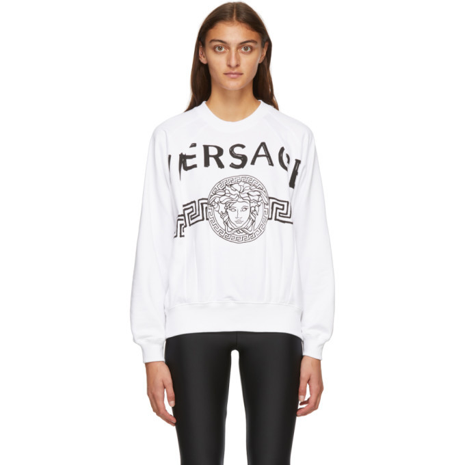 Photo: Versace White Vintage Medusa College Sweatshirt