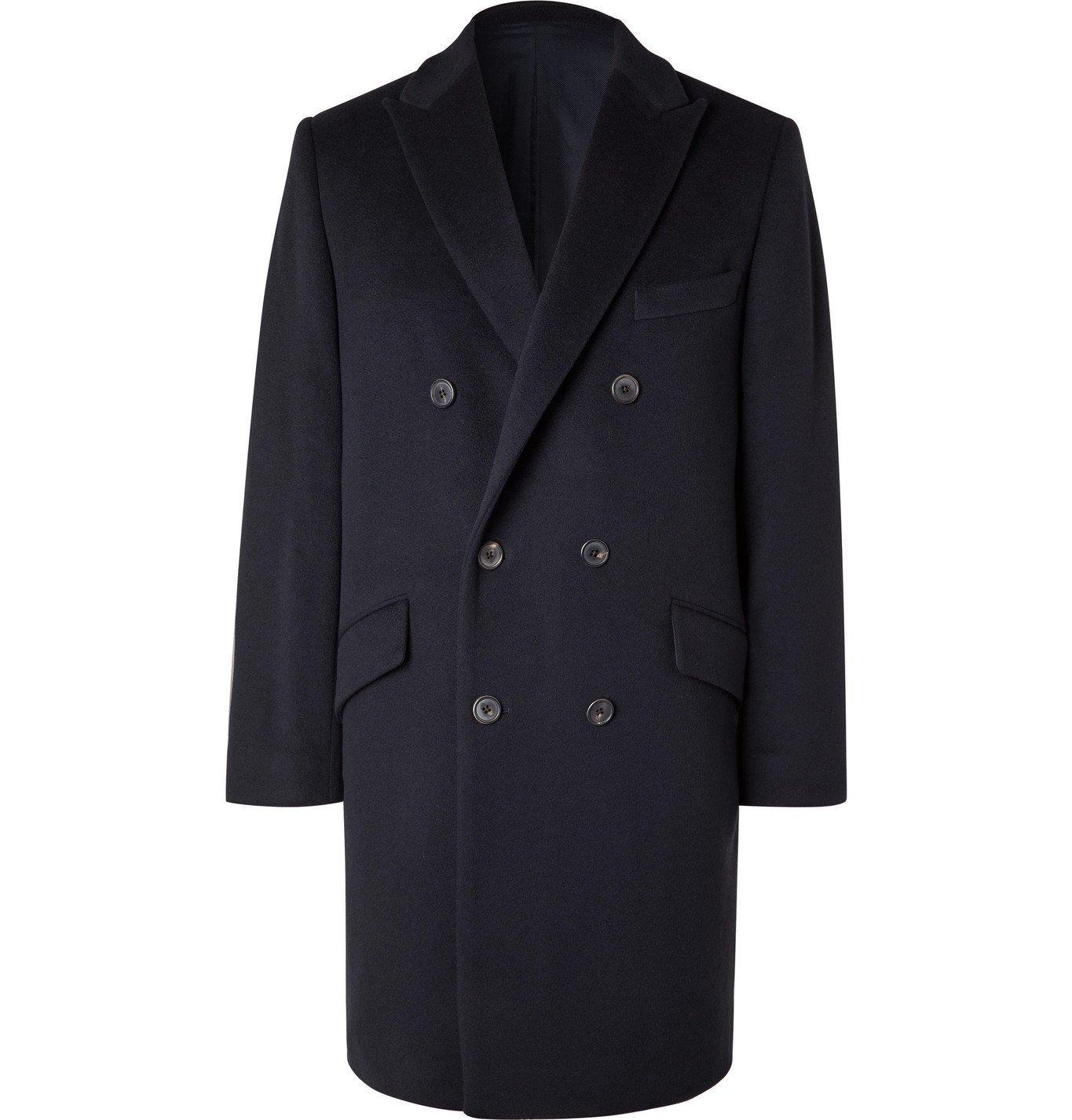 Photo: Altea - Double-Breasted Cashmere Coat - Blue