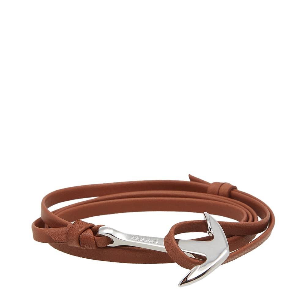 Photo: Miansai Silver Anchor Leather Bracelet