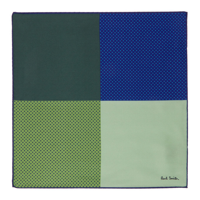 Photo: Paul Smith Blue Quatro Pocket Square