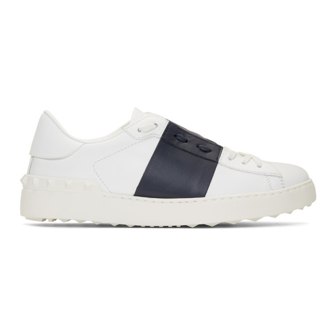 Photo: Valentino White and Blue Valentino Garavani Open Sneakers