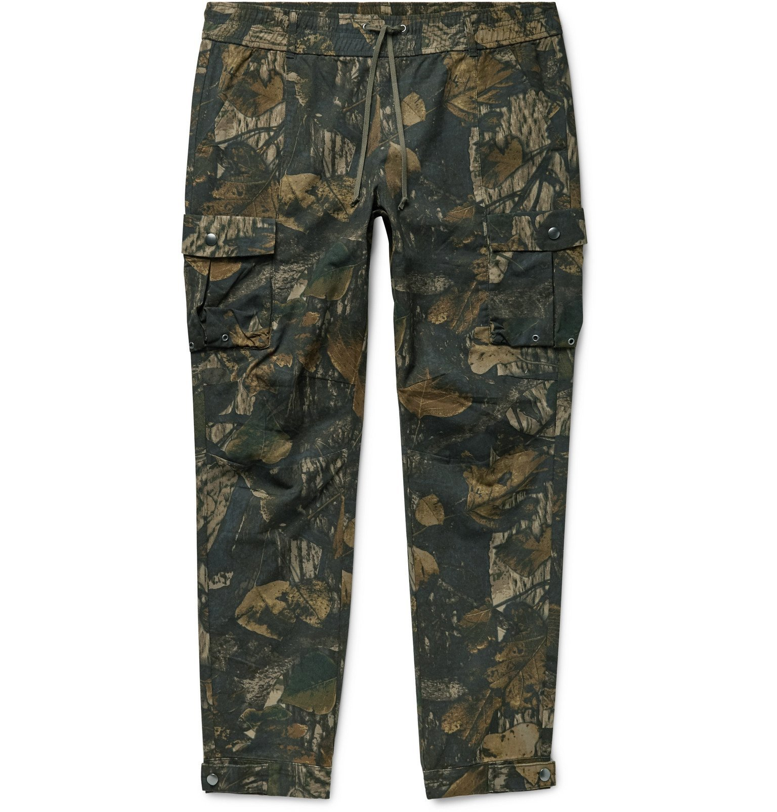 Photo: John Elliott - Panorama Slim-Fit Camouflage-Print Cotton-Ripstop Cargo Trousers - Green
