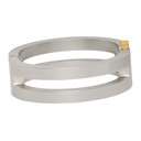 1017 ALYX 9SM Silver Hinged Buckle Bracelet