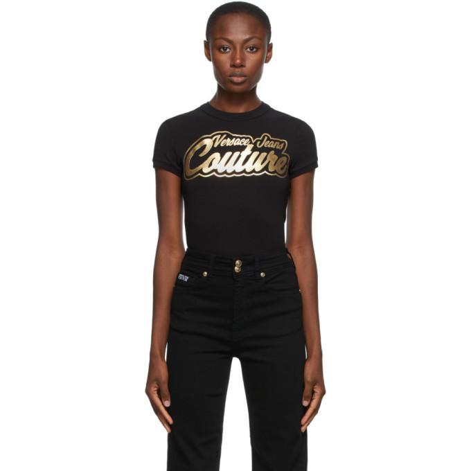 Photo: Versace Jeans Couture Black Institutional Logo College T-Shirt