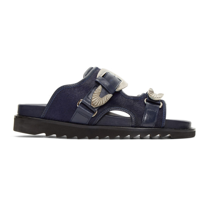 Photo: Toga Virilis Navy Fur Sandals