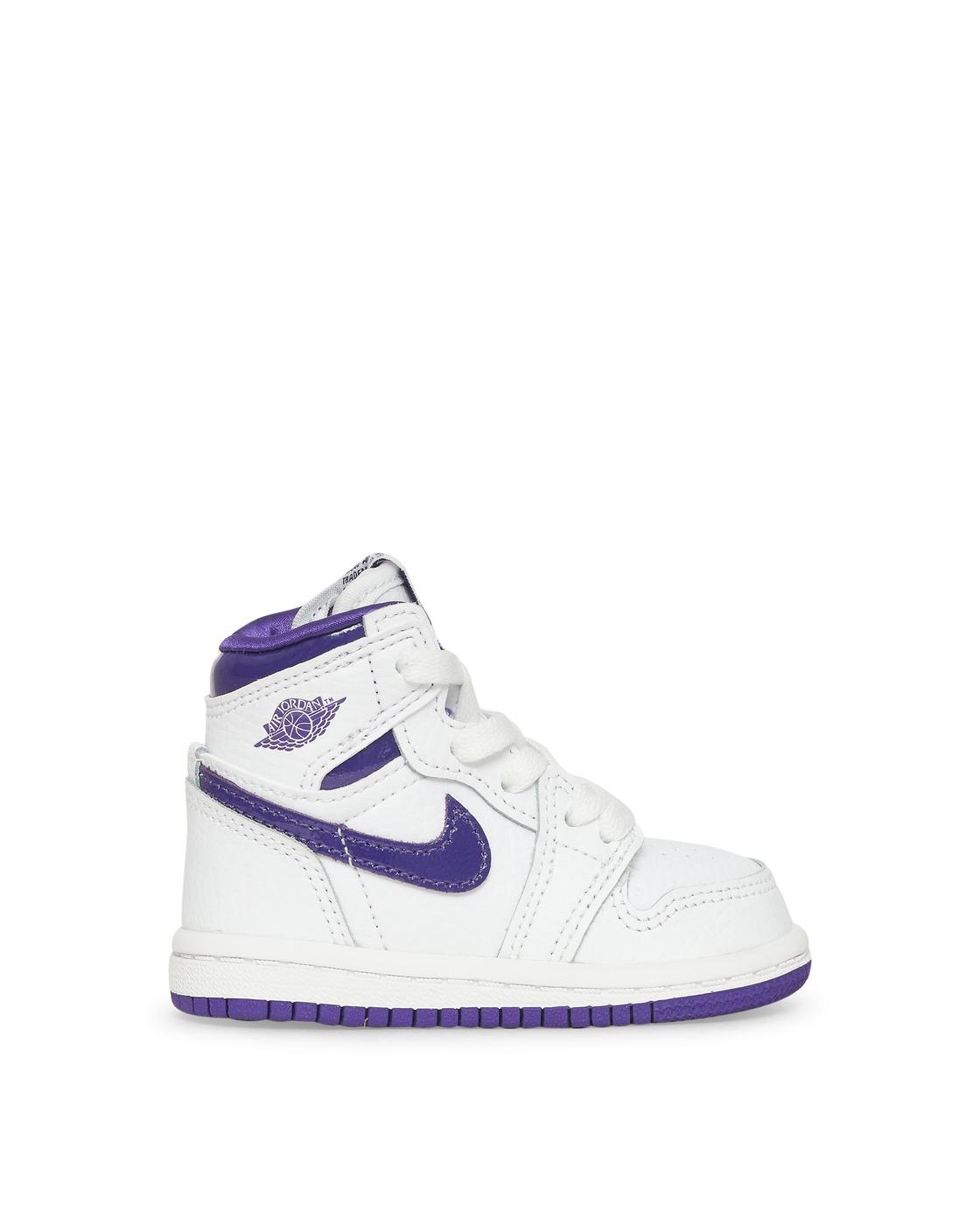 Photo: Nike Jordan Air Jordan 1 Retro Hi Og Td Sneakers White/Court Purple