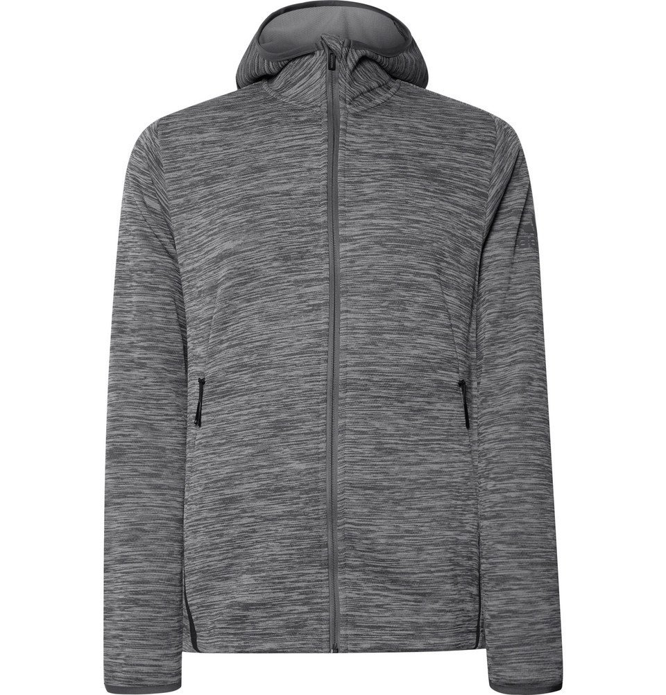 Photo: Adidas Sport - Freelift Space-Dyed Climaheat Zip-Up Hoodie - Gray