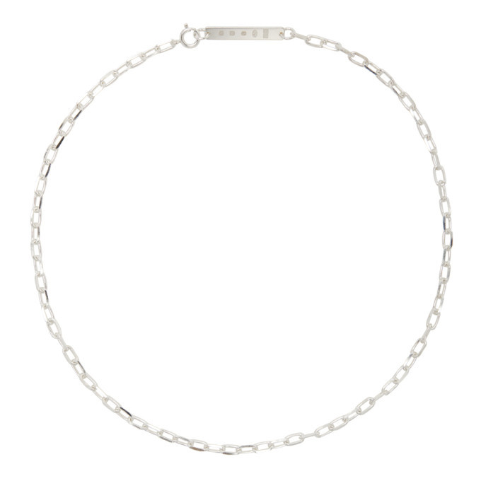Photo: Chin Teo SSENSE Exclusive Silver Hallmark Chain Necklace
