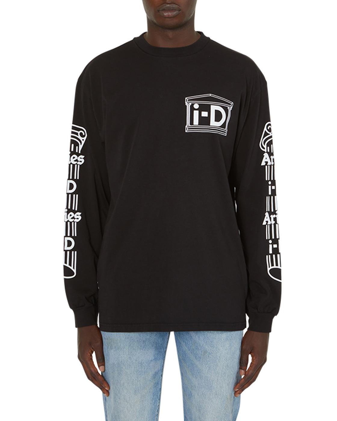 Aries I D Rat Long Sleeve T Shirt Black