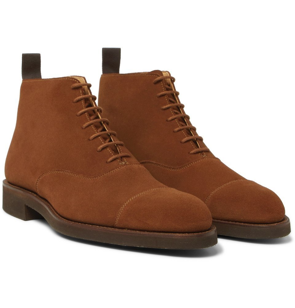 Photo: George Cleverley - William Cap-Toe Suede Boots - Brown