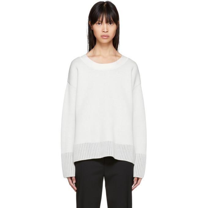 3.1 Phillip Lim Off-White Textured Silk Sweater