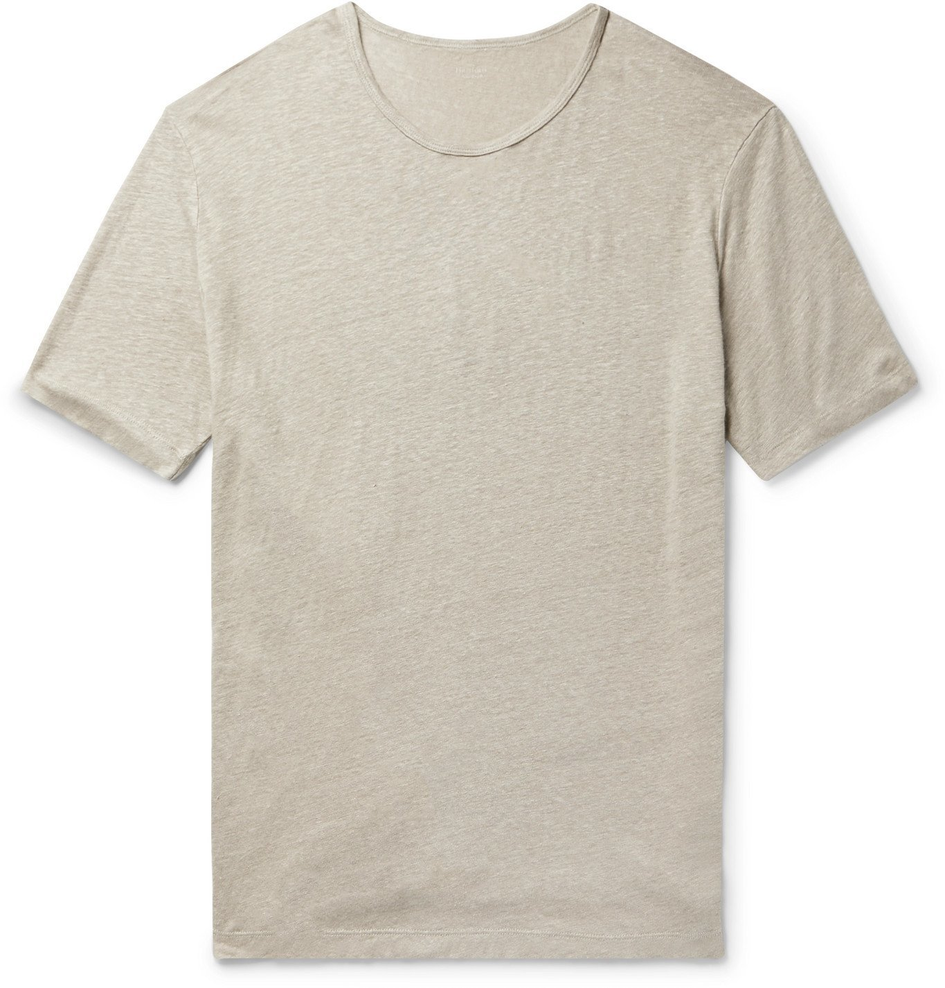 Photo: Hartford - Slub Linen T-Shirt - Brown