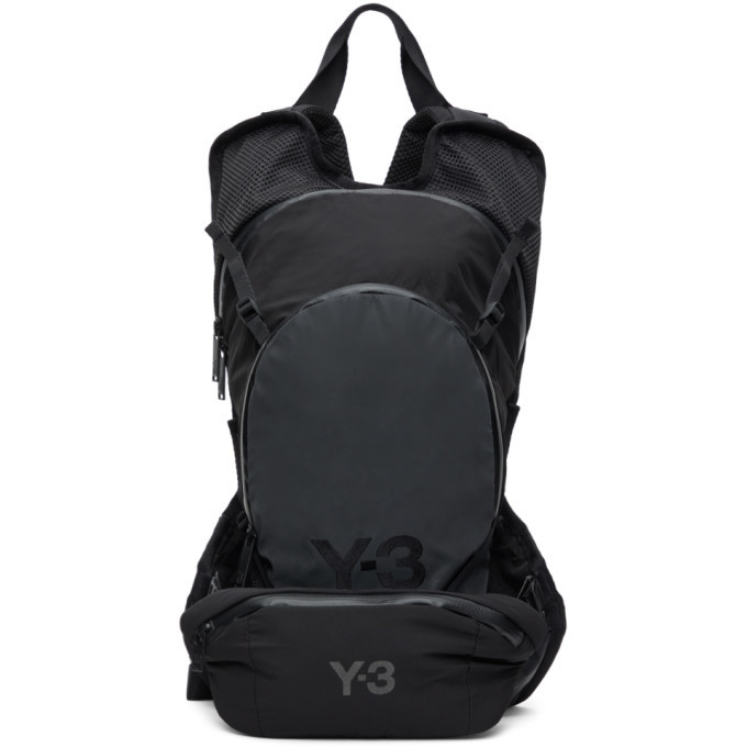Photo: Y-3 Black and Grey Ch1 Reflective Backpack