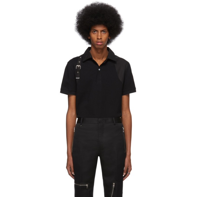 Photo: Alexander McQueen Black Harness Polo