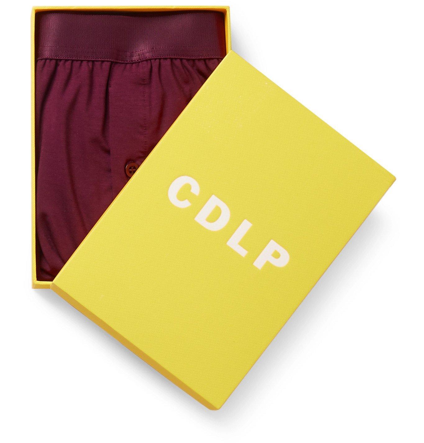 CDLP - Stretch-Lyocell Boxer Briefs - Burgundy