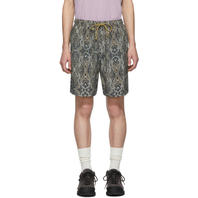 Photo: Nanushka Green Paisley Doxxi Shorts