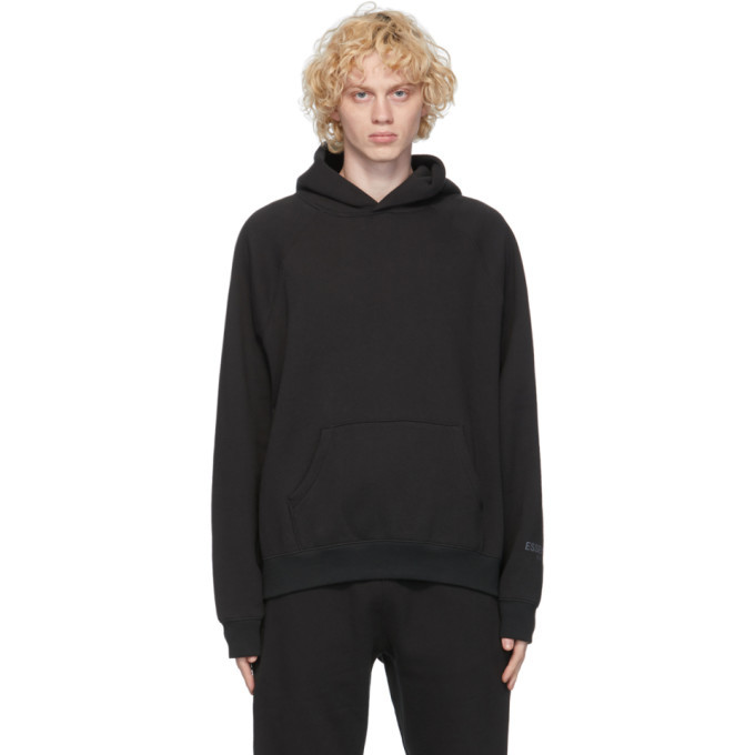 Photo: Essentials Black Fleece Pullover Hoodie