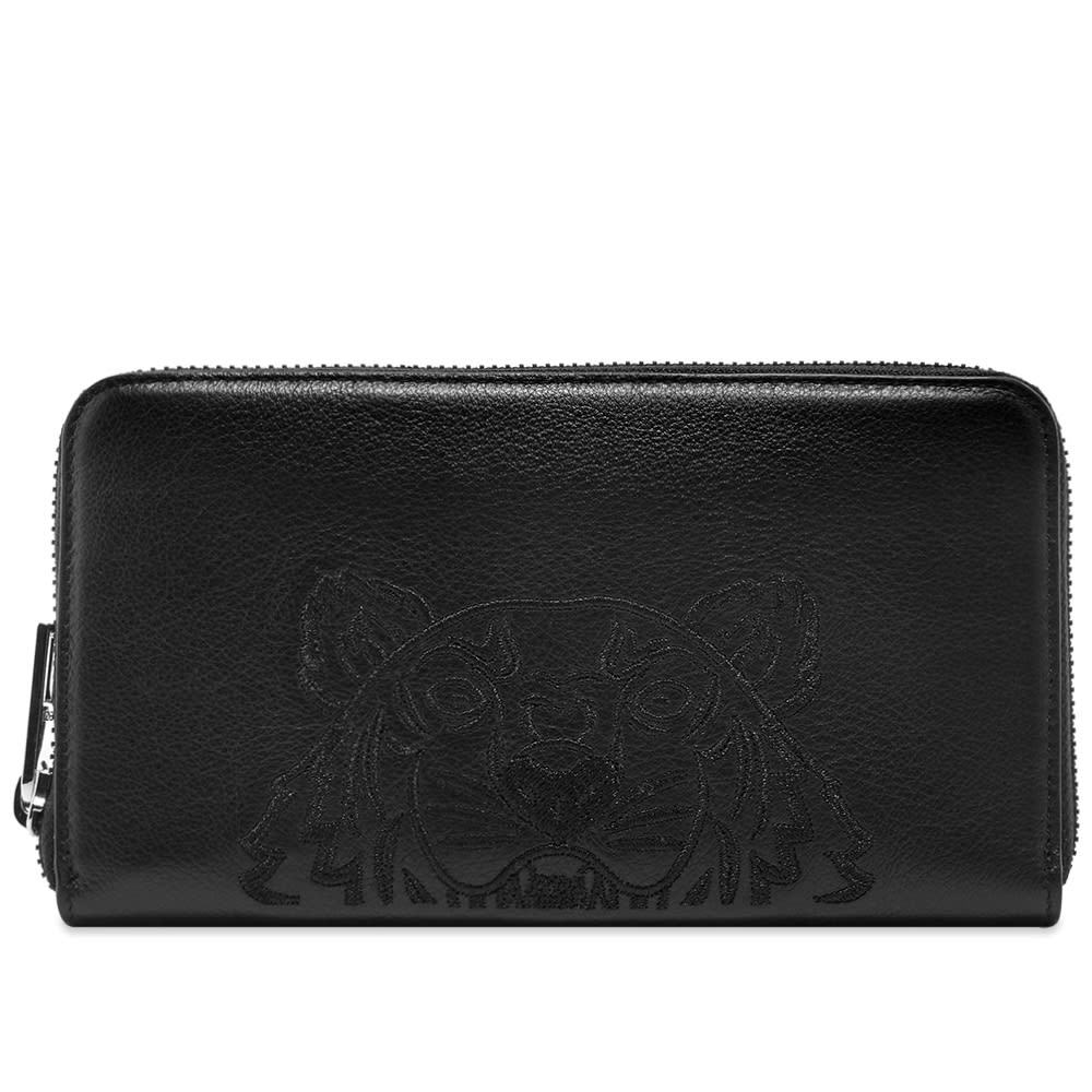 Photo: Kenzo Long Zip Embroidered Leather Wallet