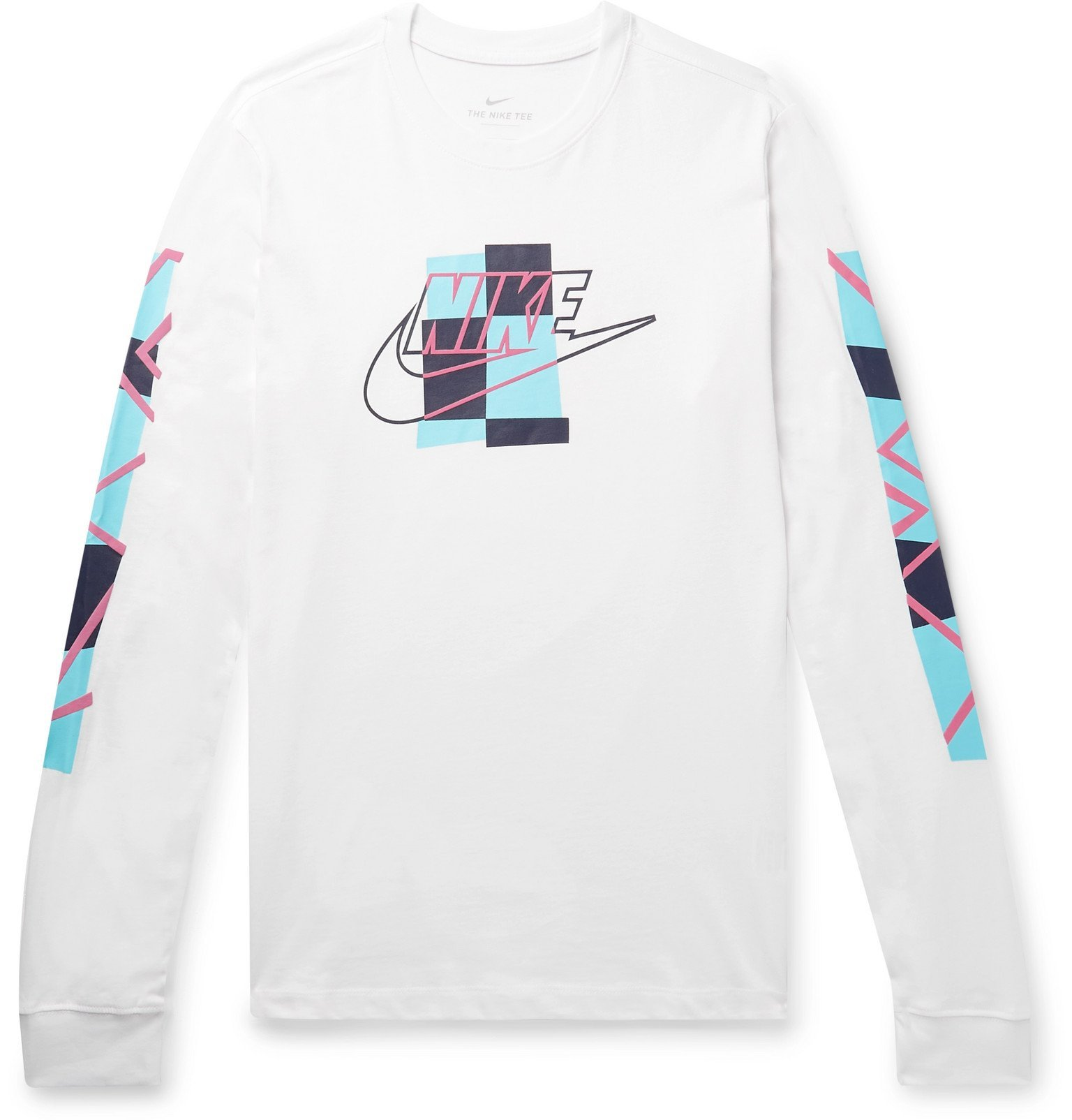 Photo: Nike - Sportswear Logo-Print Cotton-Jersey T-Shirt - White