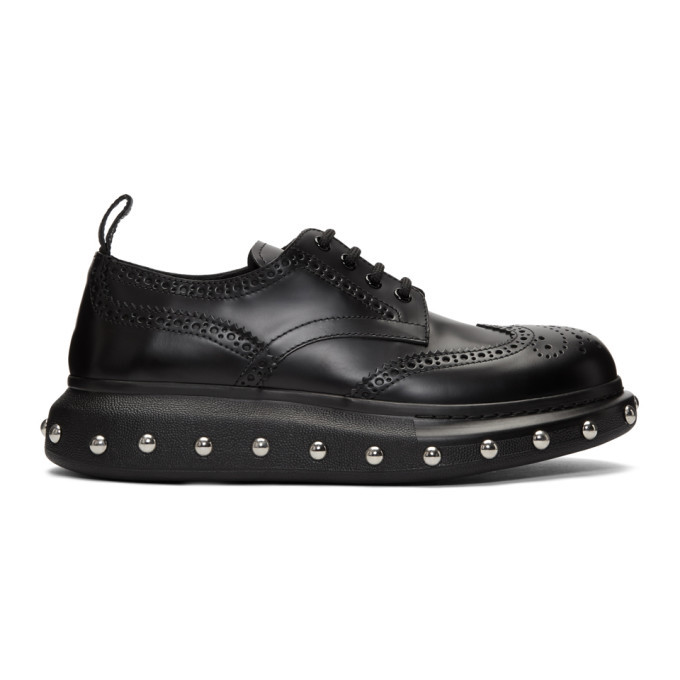 Photo: Alexander McQueen Black New Liqui Spaz Lace Ups Brogues