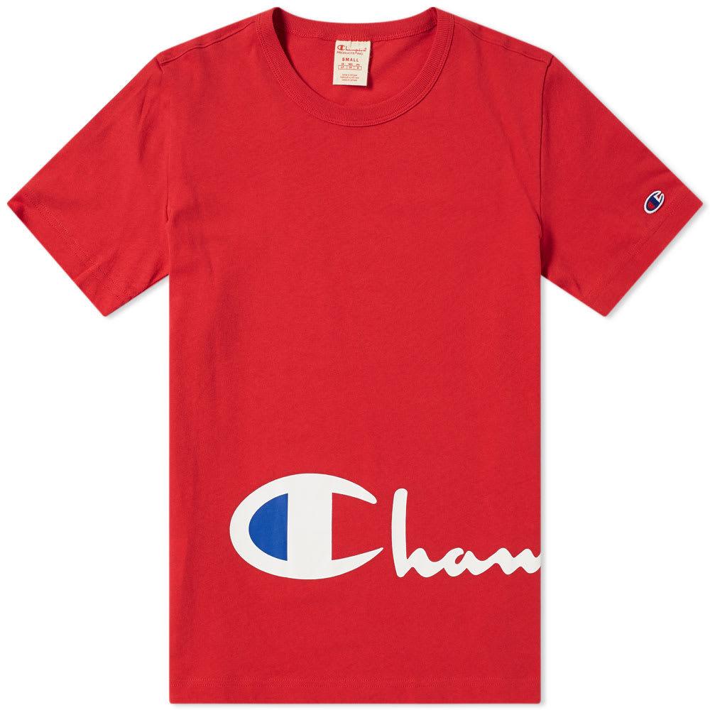 Photo: Champion Reverse Weave Corporate Script Tee
