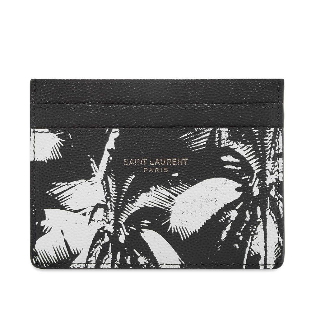 Photo: Saint Laurent Palm Print Leather Card Holder