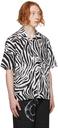 Aries White & Black Zebra Print Short Sleeve Shirt
