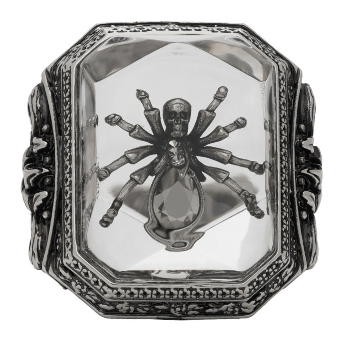 Photo: Alexander McQueen Silver Spider Resin Ring