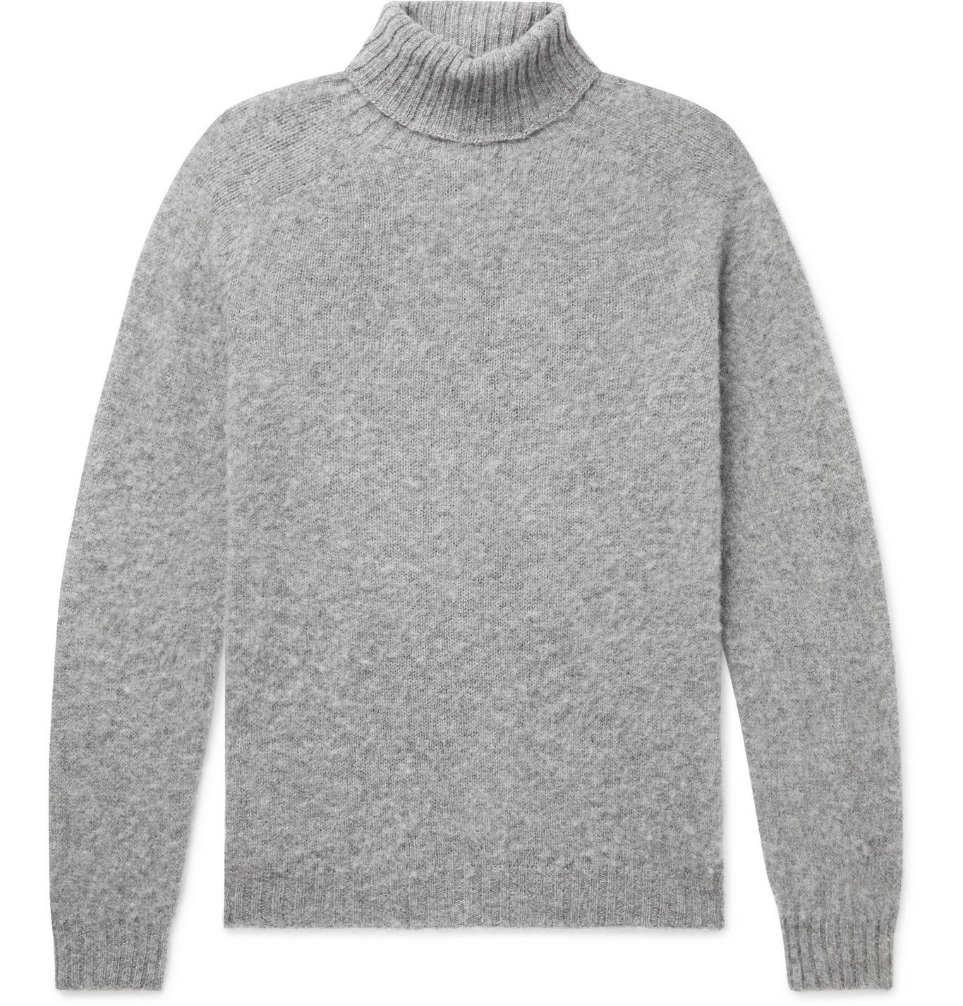 Photo: Howlin' - Sylvester Slim-Fit Mélange Wool Rollneck Sweater - Gray