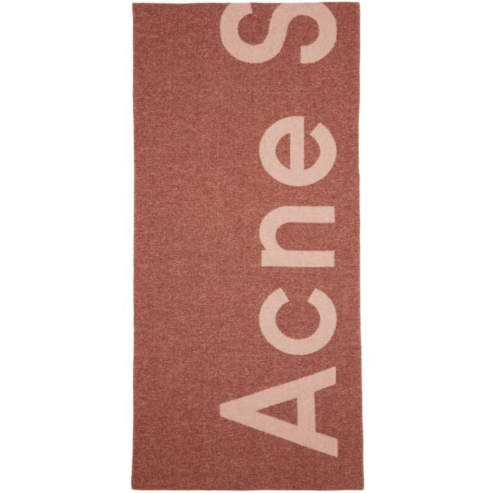 Photo: Acne Studios Pink Toronty Logo Scarf