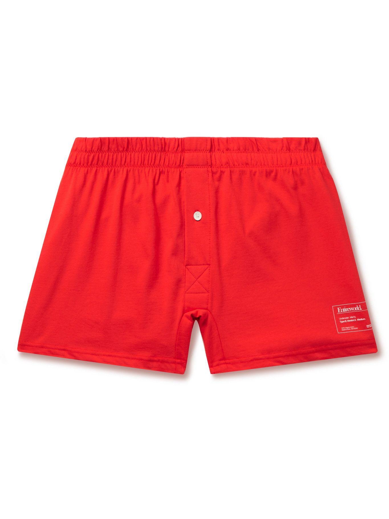 Photo: Entireworld - Type B Version 2 Slim-Fit Organic Cotton-Jersey Boxer Shorts - Red