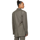 Martine Rose Brown Oversized Twist Blazer