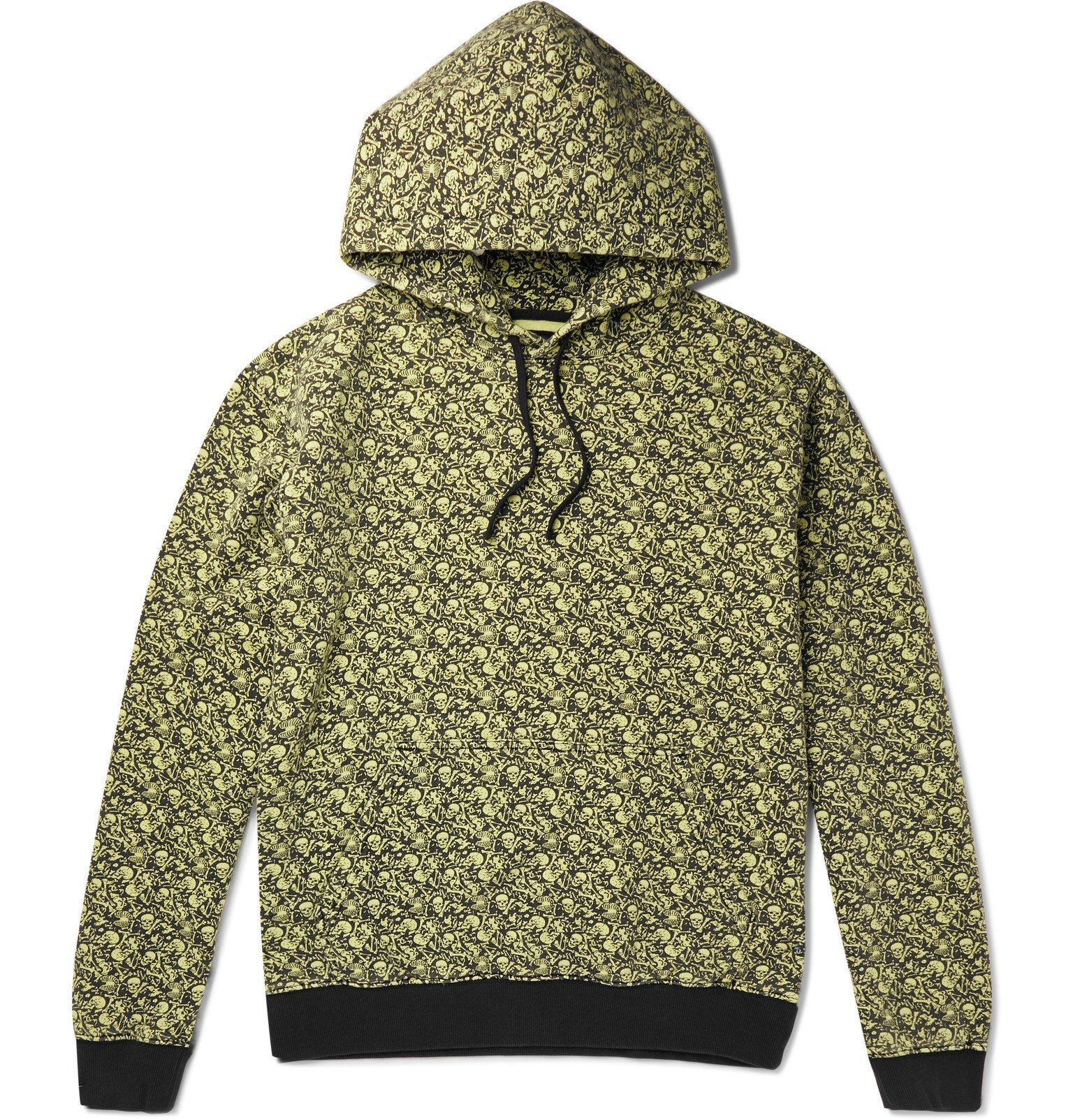 Photo: Stüssy - Printed Fleece-Back Cotton-Jersey Hoodie - Green